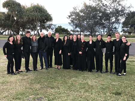 Group portrait of Queensland's chamber orchestra, Camerata.